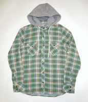【直営限定】 DOUBLE GAUZE CHECK HOODED SHIRT(TSHF15SP20)